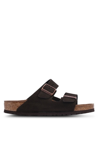 Birkenstock brown Arizona Suede Sandals 4EAE3SHFD98086GS_1