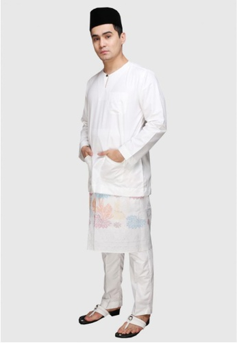 Amar Amran white Baju Melayu Teluk Belanga 83AC3AAB1AC491GS_1