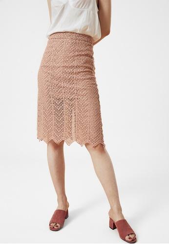 e3be0752b5ad Buy Bois White Split Back Lace Midi Skirt | ZALORA HK