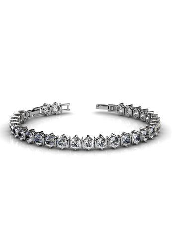 Her Jewellery silver Swarovski® Crystals - Jane Bracelet (18K White Gold Plated) Her Jewellery HE581AC0RDQAMY_1