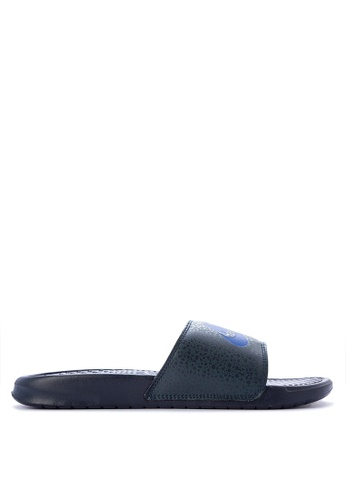 Nike black and blue Nike Benassi Just Do It Print Men's Slides NI126SH0KPQSPH_1