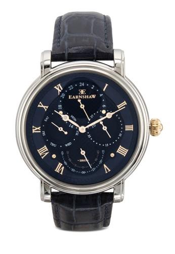 Longcasesprit 內衣e 大日曆圓框真皮手錶, 錶類, 飾品配件