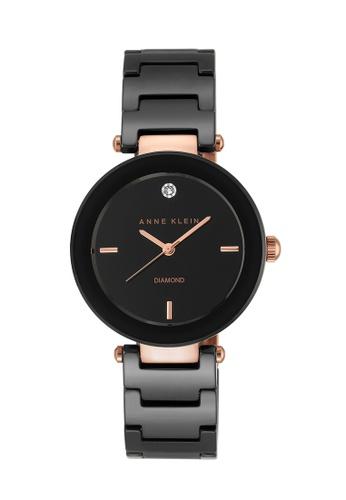 Anne Klein black Anne Klein Ladies - Diamond Dial Ceramic Watch - AK-1018RGBK AN844AC0RGS1MY_1