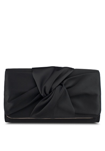Zalia black Large Clutch With Bow Detail F0FABACCEBA238GS_1