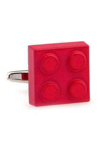 The Little Link Cufflinks red Lego Brick cufflinks TH089AC0GM18SG_1