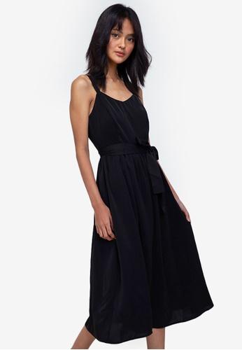 ZALORA BASICS black Sweetheart Neckline Midi Dress 68E09AA2BD2FC2GS_1