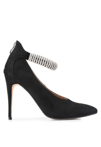 ZALORA black Crystal Strap High Heels 886C7SH2EDF462GS_1