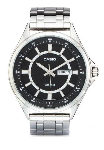 esprit香港分店MTP-E108D-1AVDF 刻度顯示不銹鋼手錶, 錶類, 飾品配件