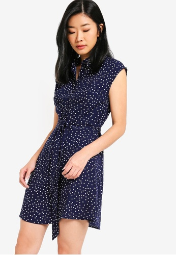 Something Borrowed navy Shirt Dress 22F78AAD2A5D42GS_1