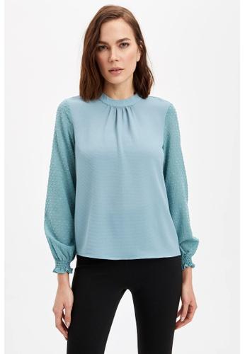 DeFacto blue Woman Long Sleeve Blouse 95489AAA21B7E2GS_1