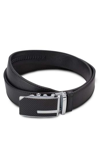 Swiss Polo black Leather Belt SW912AC12ZYHMY_1