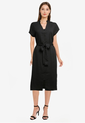 ZALORA WORK black Button Down Detail Dress AB4BFAAF605319GS_1