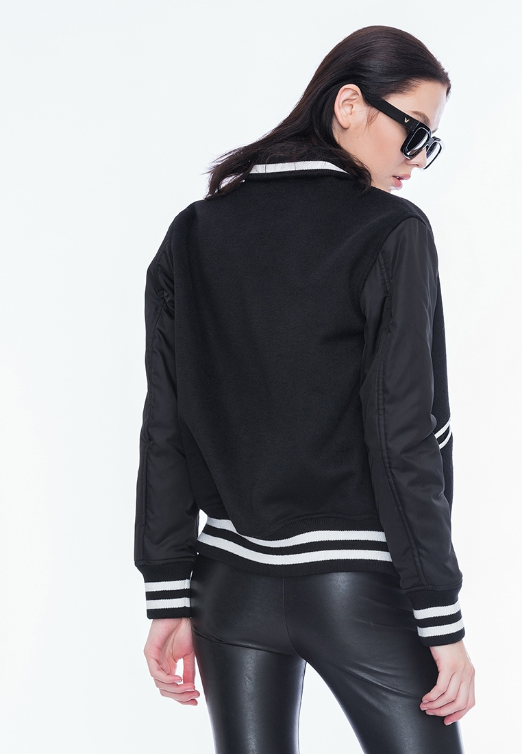 Style BF Jacket Varsity Alpha Alpha Black U4HvqH