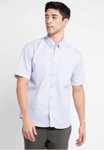 GQ MEN'S WEAR blue Casual Short Sleeve Shirt GQ410AA0V5FZID_1