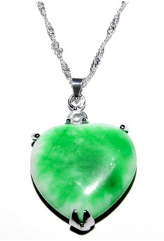 Lucky Yeng Heart Shaped Jade Pendant 2