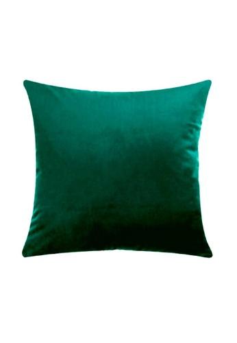 DILAS HOME Basic Velvet Cushion Cover (Emerald) 68D64HLD75330AGS_1
