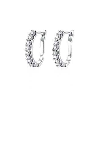 Glamorousky white Simple and Fashion Cubic Zircon Earrings 69572AC3DC9E0EGS_1