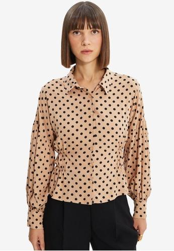 Trendyol beige Mink Shirt 59606AAC9DF058GS_1