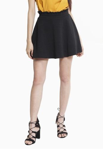 UNAROSA black Skater Skirt 5E716AA34AF501GS_1