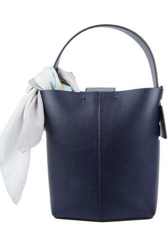 RO Bags navy RO Terranova Felucca Mini Top Handle Bucket Bag in Navy/Light Purple 5F775AC7FE96BBGS_1