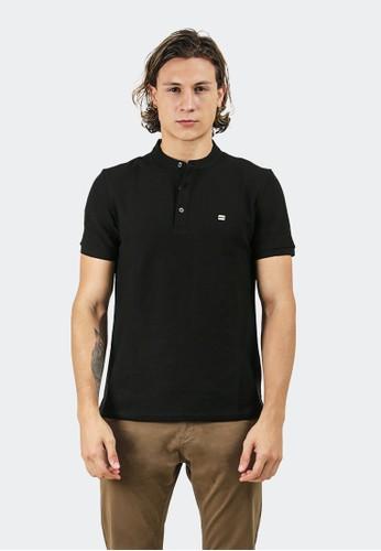 Celciusmen black Polo shirt B01421C with emblem brand 4A845AA0FA1173GS_1