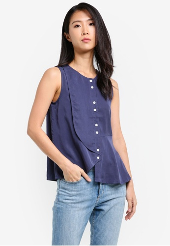 WEEKEND SUNDRIES navy Soft Shapes Blouse WE453AA0FXUASG_1