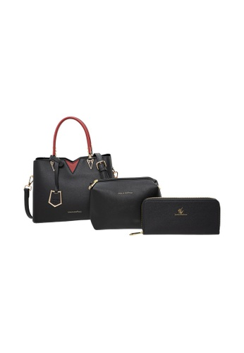 LancasterPolo black Lancaster Polo Layered-Lorraine Handbag, Sling Bag, Wallet 3 in 1 Bundle Set B7E54ACC5BD55FGS_1