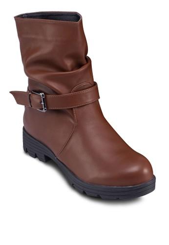 飾帶抓褶esprit門市地址中筒靴, 女鞋, 鞋