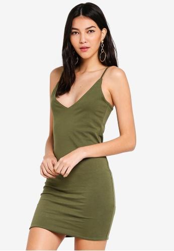 95e52513a839 Shop Supre Deep V Double Layer Mini Dress Online on ZALORA Philippines