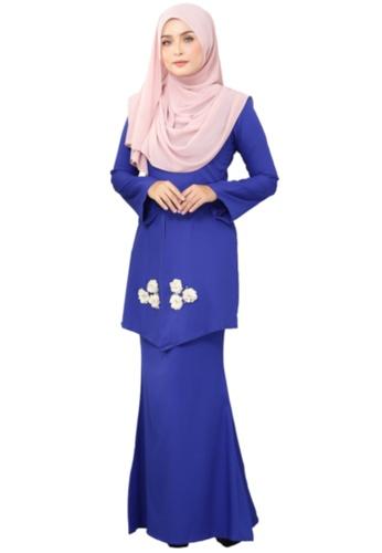 Kebaya Mawar (AEKM02 Royal Blue) from ANNIS EXCLUSIVE in Blue