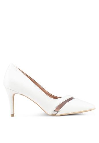 Nose 白色 透明拼接高跟鞋 2E23FSH572380AGS_1