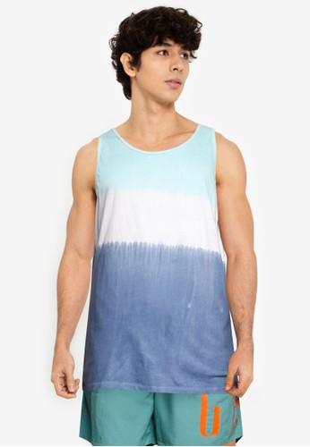 GAP blue Beach Tie Dye Tank Top 345C9AACB9CB85GS_1