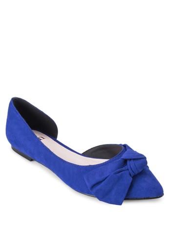 側鏤空尖頭蝴蝶結平底鞋, zalora 心得女鞋, 鞋
