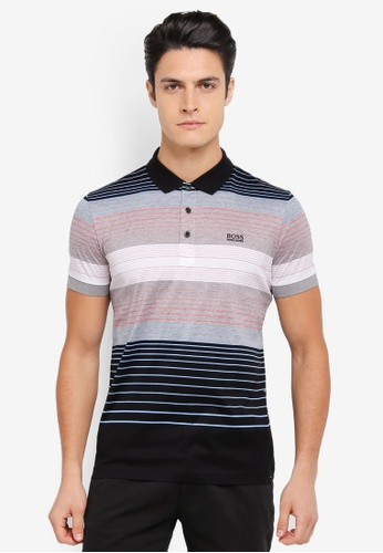 BOSS black and multi Paddy 3 Polo Shirt - Boss Athleisure BO517AA0SRAYMY_1