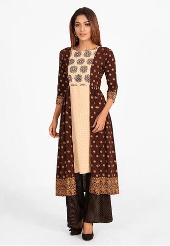 Le Reve brown Le Reve Brown Unique Tunic Dress 5D470AAF1B57EBGS_1