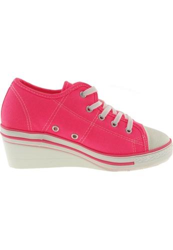 Maxstar Maxstar Women's ZL 5 Holes Canvas Low Wedge Heel Sneakers US Women Size MA164SH14PXPSG_1