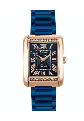 Alexandre Christie blue Alexandre Christie Jam Tangan Wanita - Blue Rosegold - Stainless Steel - 2660 LHBURBU 11B2CAC0BE1FE7GS_1