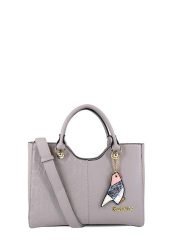 Carlo Rino grey CR Top-handle bag CA220AC57LRUMY_1
