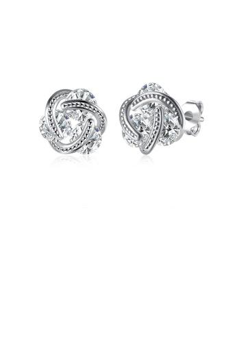 Glamorousky white Fashion and Elegant Spherical Cubic Zircon Stud Earrings 8E7CBACF9ECBAEGS_1
