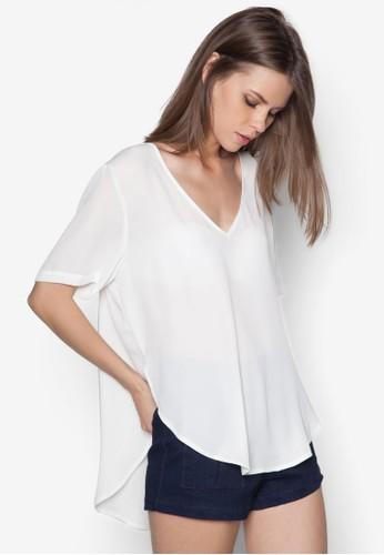 不合錯誤稱下擺T-shirt、 服飾、 服飾Glamorous不合錯誤稱下擺上衣最新折價