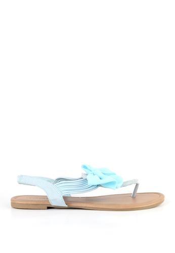 London Rag blue Sara Bow Slingback Sandals 930ABSH53F0D39GS_1