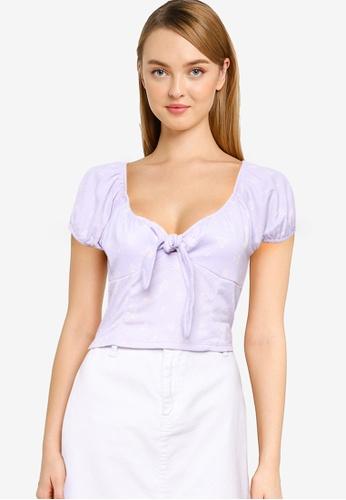Cotton On purple Sally Sweetheart Short Sleeve Top 8211EAAC7E3A5EGS_1