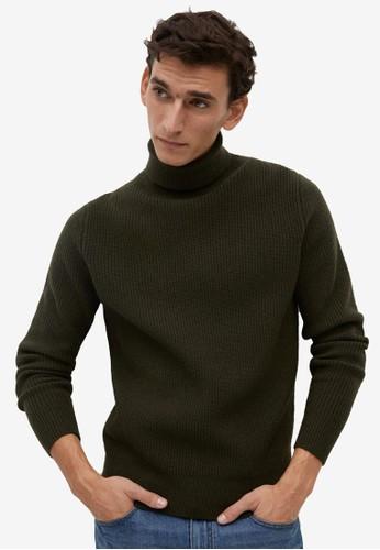 MANGO Man green Turtle Neck Wool Sweater 3BF0AAAAD10E9CGS_1