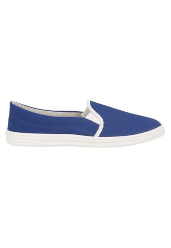 Beira Rio blue Solid Color Slip On Sneaker BE995SH59ETGHK_1