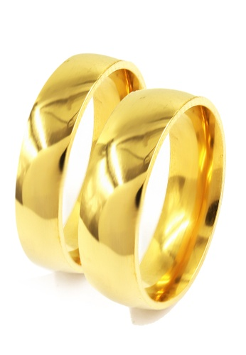 Cheska Gold Plated Couple Ring Venice Jewelry Buy line at