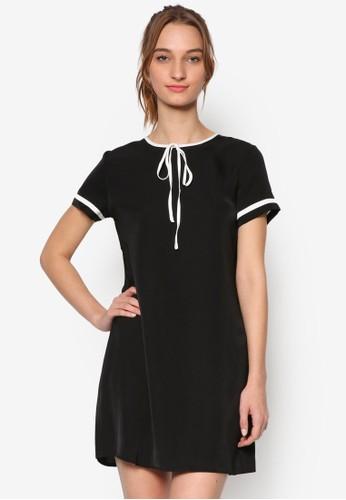 撞色滾邊esprit台北門市直筒連身裙, 服飾, 洋裝