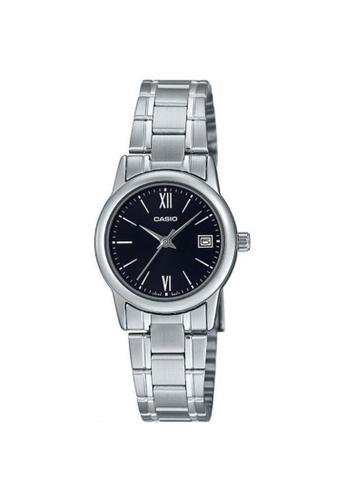 Casio silver CASIO GENERAL LTP-V002D-1B3UDF WOMEN'S WATCH 7A773AC40E7A11GS_1
