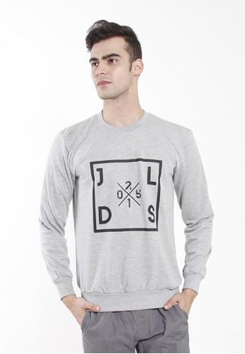 JOULDAS grey Jouldas Grey Men Sweatshirts 8176BAAB4AC1A6GS_1