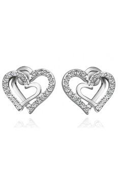 Shaina White Gold Earrings