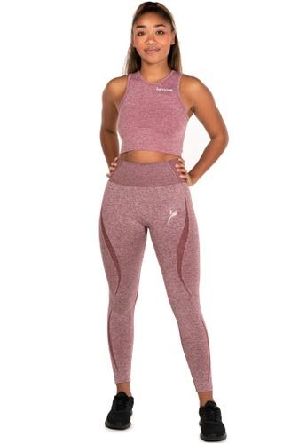 Famme Sportswear Famme Sportswear Melange Burgundy Elevate Vortex Leggings 1FE79AAAF94F40GS_1